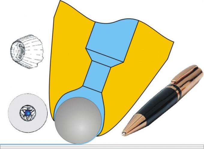 Устройство пишущего узла шариковой ручки