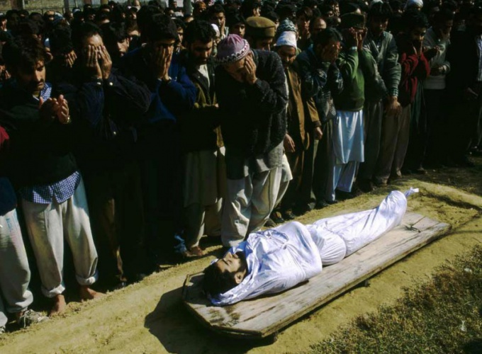 The funeral of the Muslims dictated by the Sharia