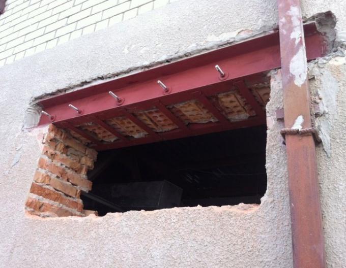 Отверстие в несущей стене