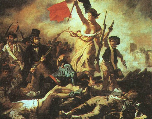 Аллегорическое представление свободы в картине Э.Делакруа