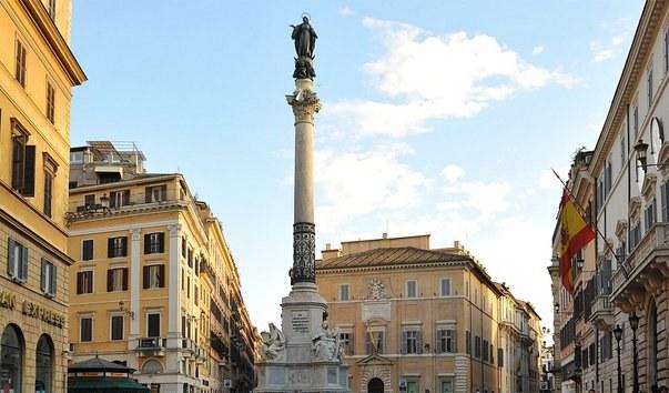 Колонна непорочного зачатия в Риме