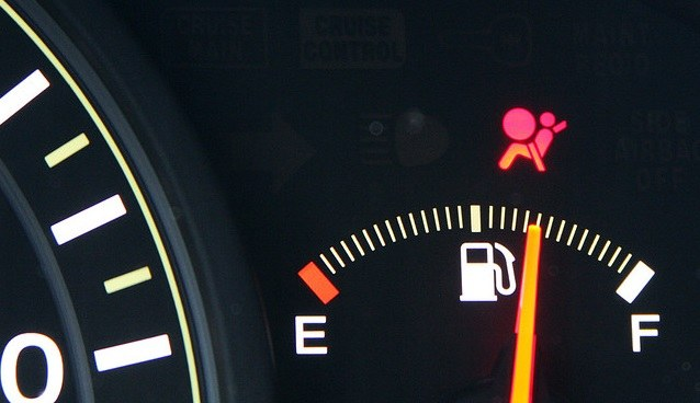 The Airbag indicator on the dashboard