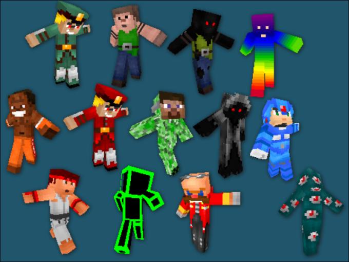 В Minecraft можно выбрать какой угодно скин