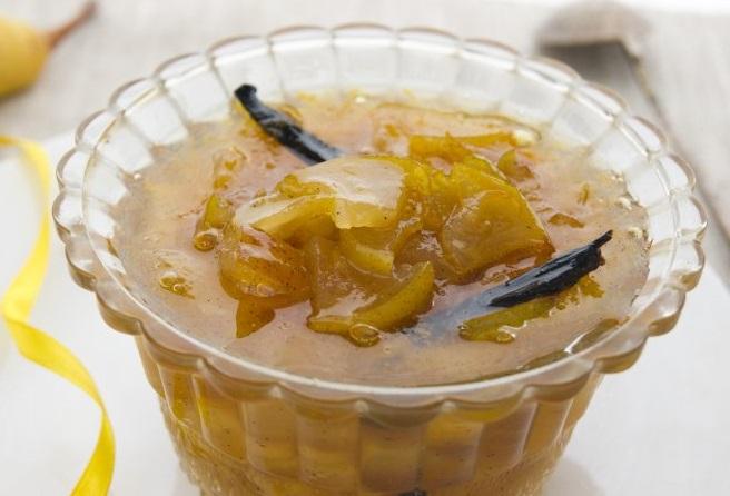 Варенье из груши и ванили