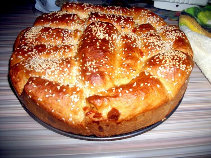 Итальянский хлеб на молоке с сыром