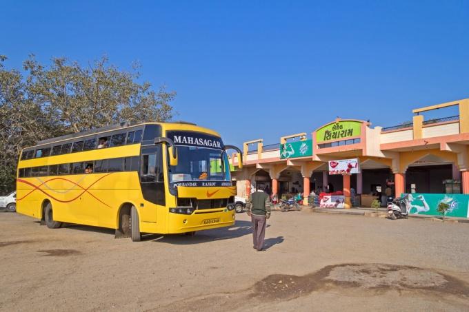 Индийский междугородний автобус