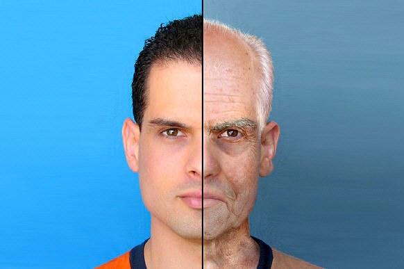 Изменения в лице человека, незаметные ежедневно, отчетливо наблюдаются через каждое десятилетие и особенно в старости