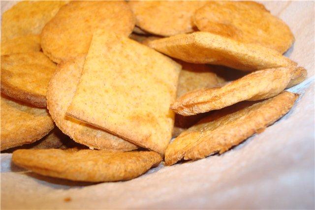 Постные закусочные крекеры