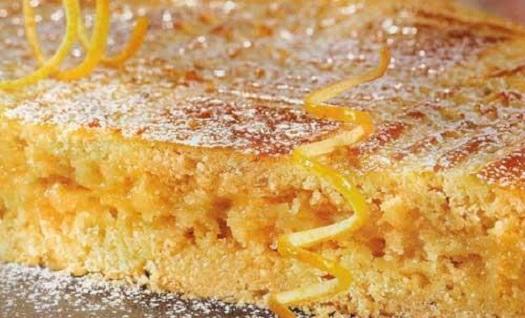 Песочное пирожное с лимонной начинкой