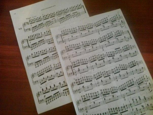 фортепианные ноты