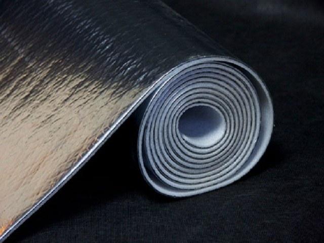 Рулонный многослойный звукоизолирующий материал.