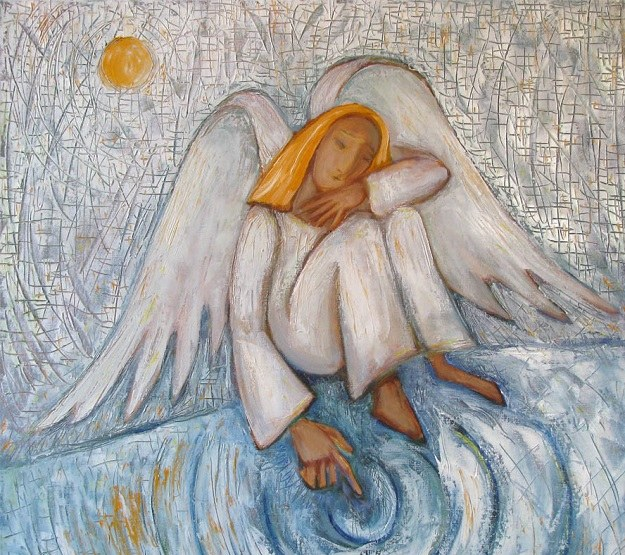Svyatoslav Ryabkin. Sad angel(the guardian angel)