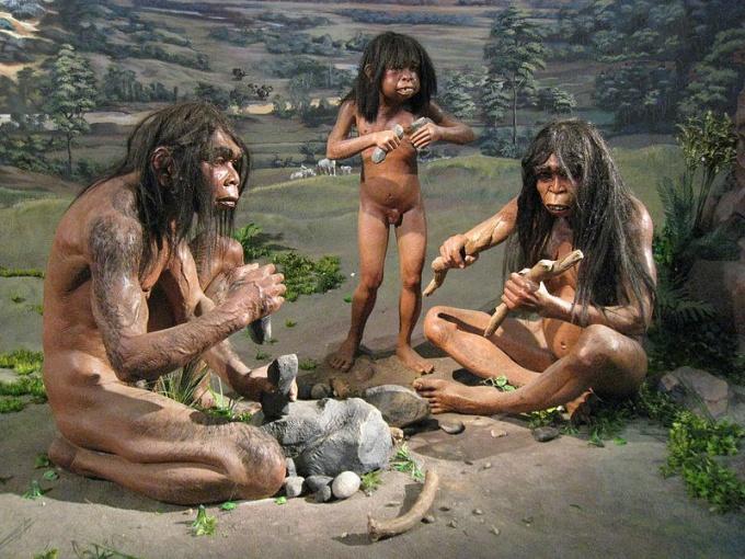 Быт человека Каменного века. Реконструкция