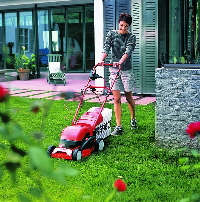 For small areas with flat terrain the best choice is an electric mower