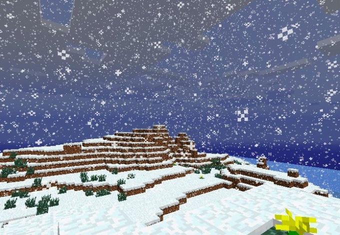 Как в майнкрафте сделать снежную погоду