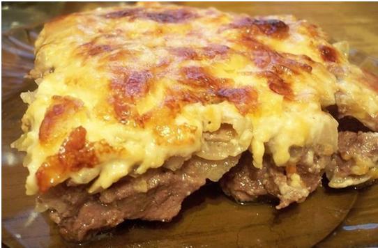 Как готовится говядина по-купечески с грибами и сыром