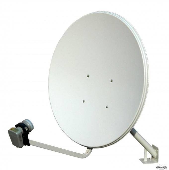 Общий вид типичной спутниковой антенны