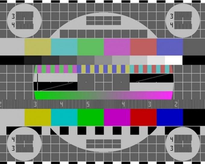 Тестовое изображение калибровки телевизора