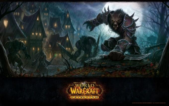 Заставка World of Warcraft Cataclysm