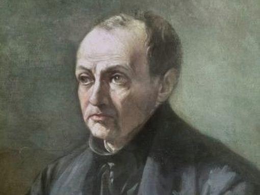 Портрет Огюста Конта, художник Луи-Жюль Этекс, 19 век