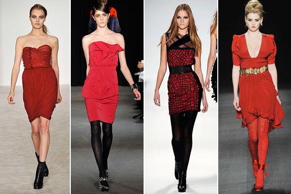 Выбираем колготки к платью красного цвета