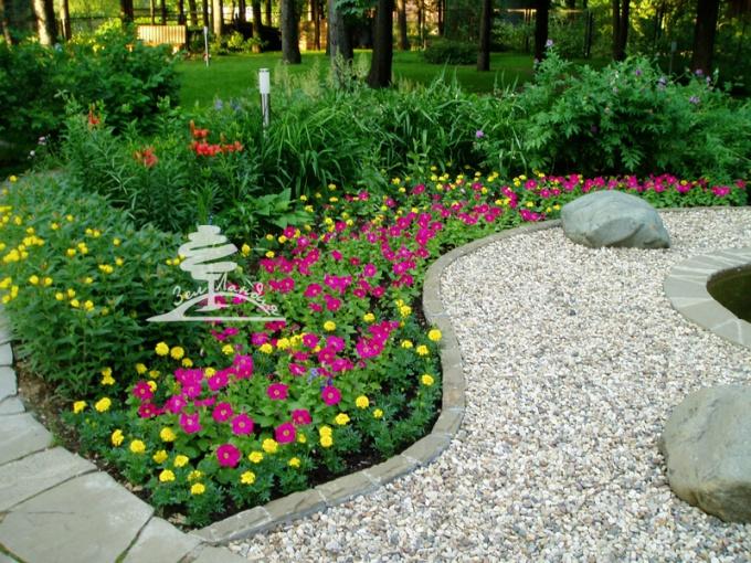 Landscape design garden plot