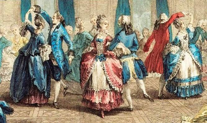 Менуэт  во Франции был популярен при дворе