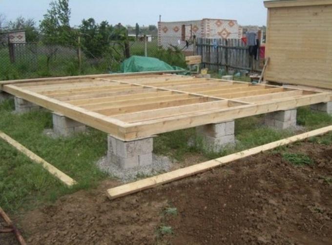 Столбчатый фундамент из строительных блоков