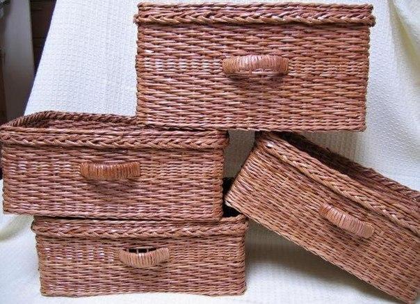 Плетение корзин из газет. Подготовка трубочек