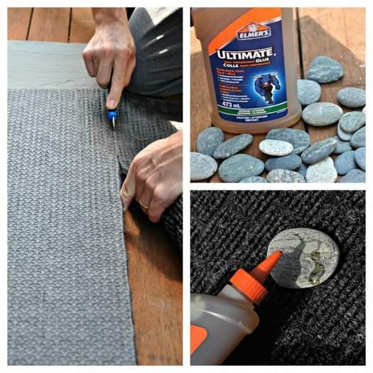 Как сделать коврик из гальки