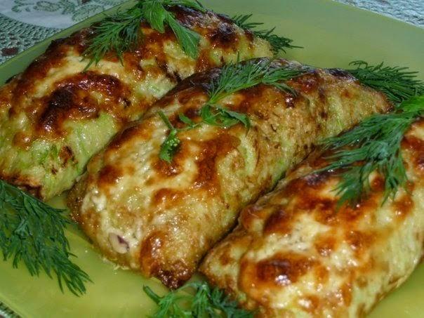 Блины из кабачков фаршированные рецепты пошагово