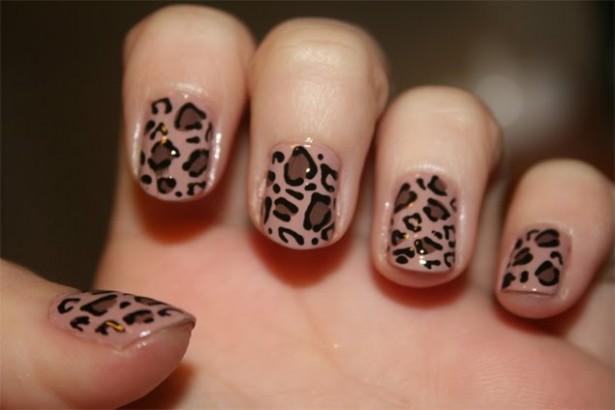 Леопардовый маникюр в домашних условиях