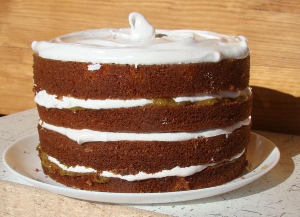 Воздушный фруктово-цитрусовый торт