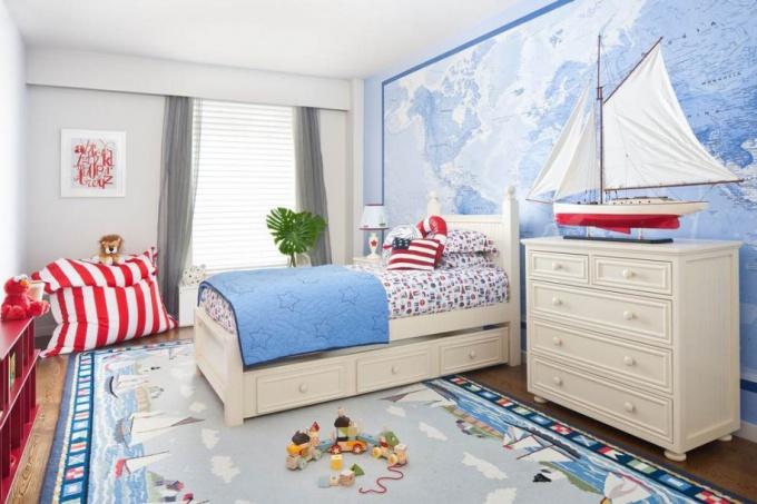 детская комната в морском стиле фото