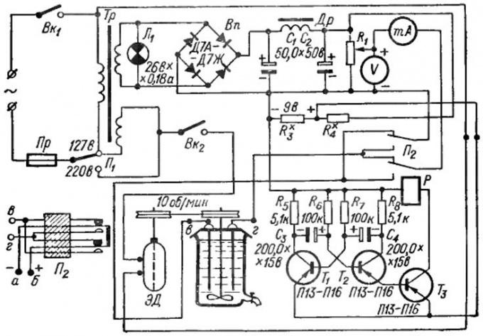 Схема импульсного ионатора для серебряной воды