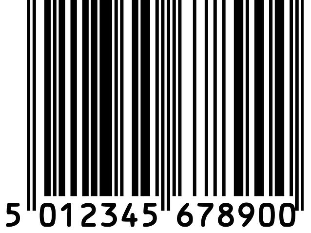 Пример штрихового кода продукции, выпущенной в Великобритании