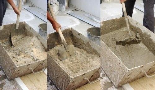 Техника замеса бетона