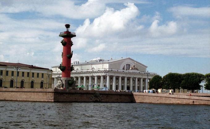 Ростральные колонны находятся в Василеостровском районе