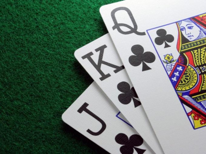 Одномастные игральные карты для хода