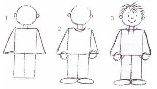 Как легче всего нарисовать человека