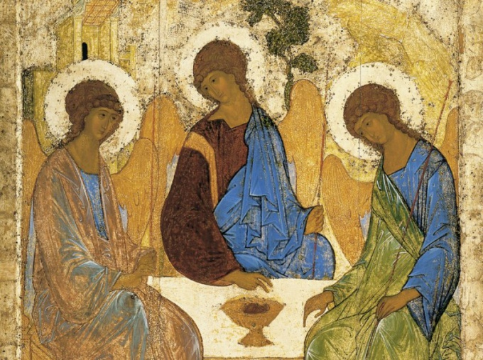 Andrei Rublev (1360-е - 1430) -- Троица. Orthodox Icons. Dow… http://gallerix.cz/storeroom/4221350301/N/2215519667/