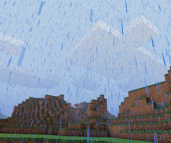 The rain in Minecraft