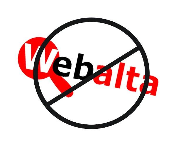 Убрать из страницы Webalta