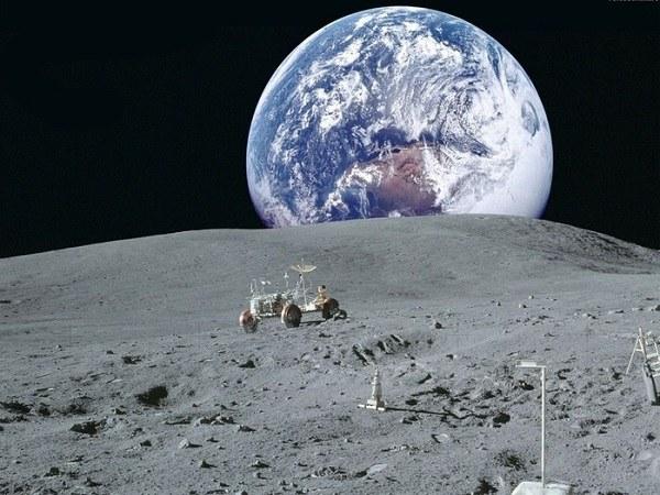 Так выглядит Земля с Луны