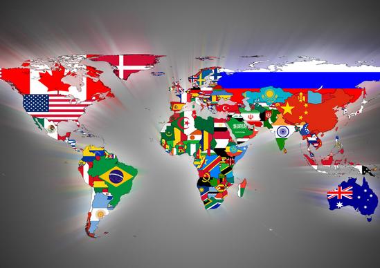 Как выглядят страны и их флаги