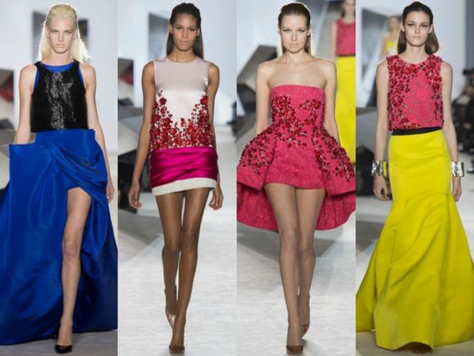 Какие фасоны платьев в моде 2014