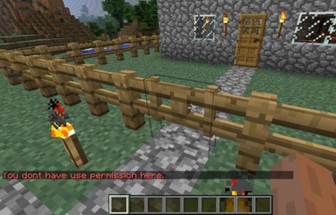 В Minecraft нужно уметь и распривачивать свой регион