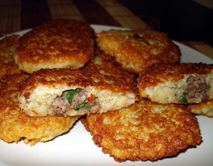 Картофельные оладьи с мясом пошаговый рецепт