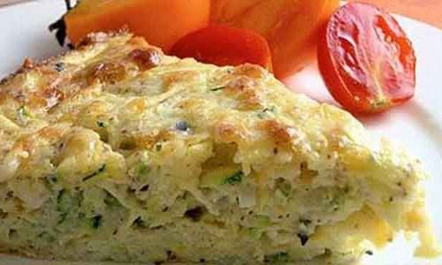 Casserole of zucchini with melted cheese