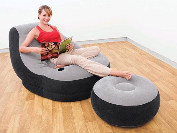 Достоинства надувной мебели